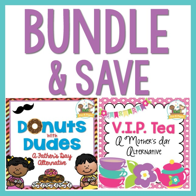 Fathers Day and Mothers Day Event Bundle for Preschool