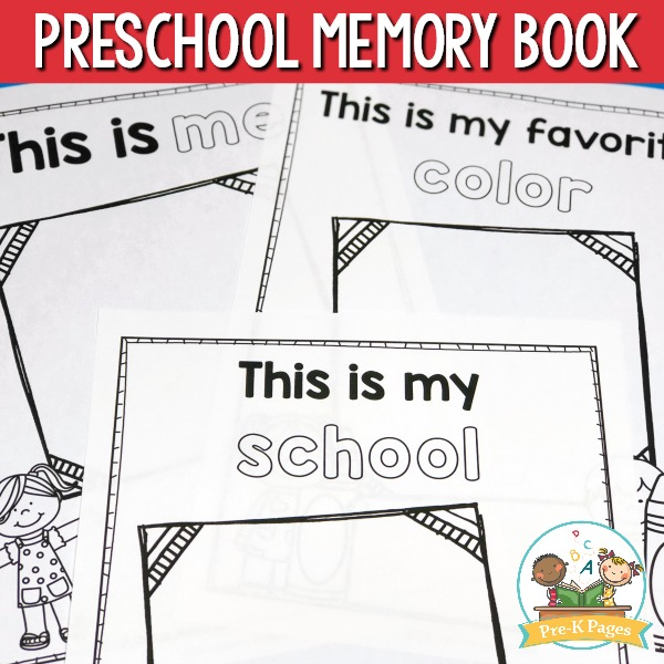 Memory Book for Pre-K