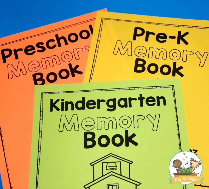 Printable Preschool Memory Book