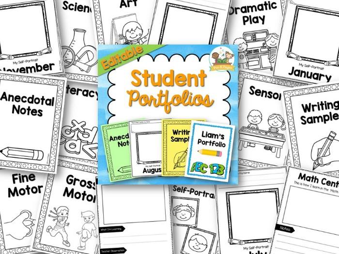 Preschool Portfolio Forms