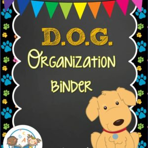 Dog Organization Binder