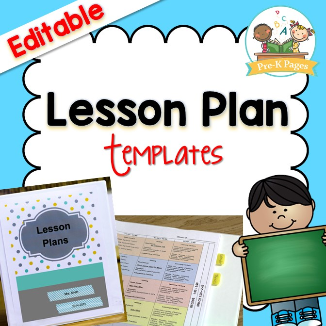 Lesson Plan Template - Pre-K Pages