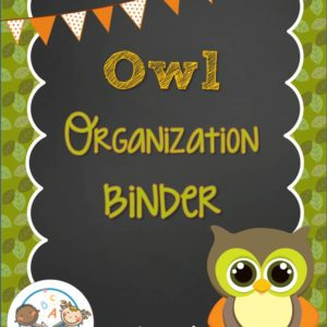 Owl Organizational Binder