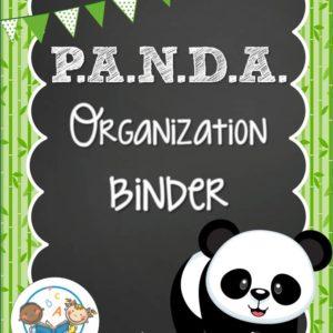 Panda Organization Binder