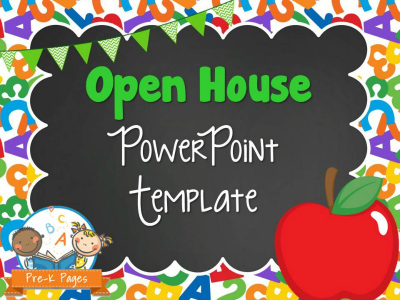 school theme open house powerpoint pre k pages