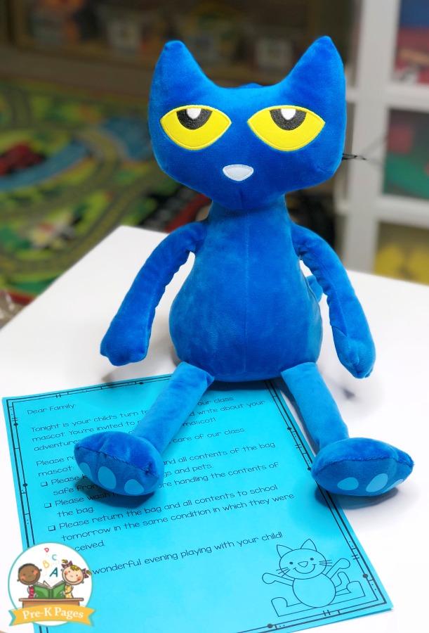 Class Mascot Letter for Preschool