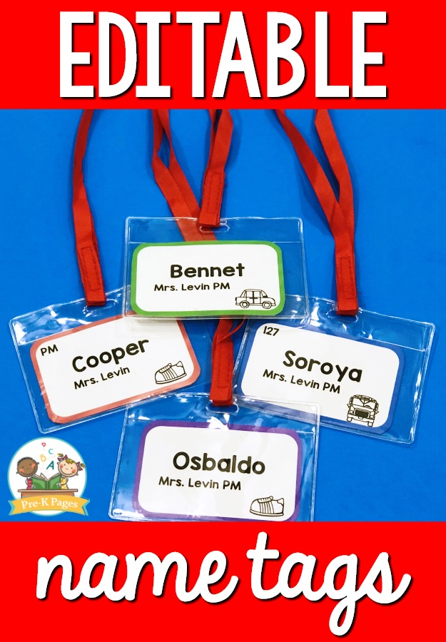 Name Tags for Preschool
