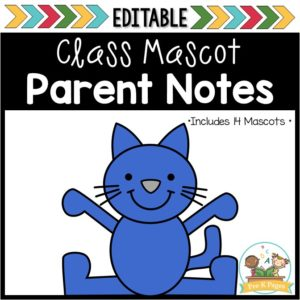 Classroom Mascot Parent Letters for Preschool