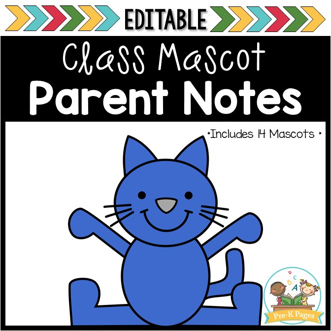 Classroom Mascot Parent Letters for Preschool