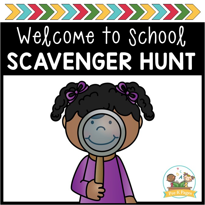 Open House Scavenger Hunt for Preschool