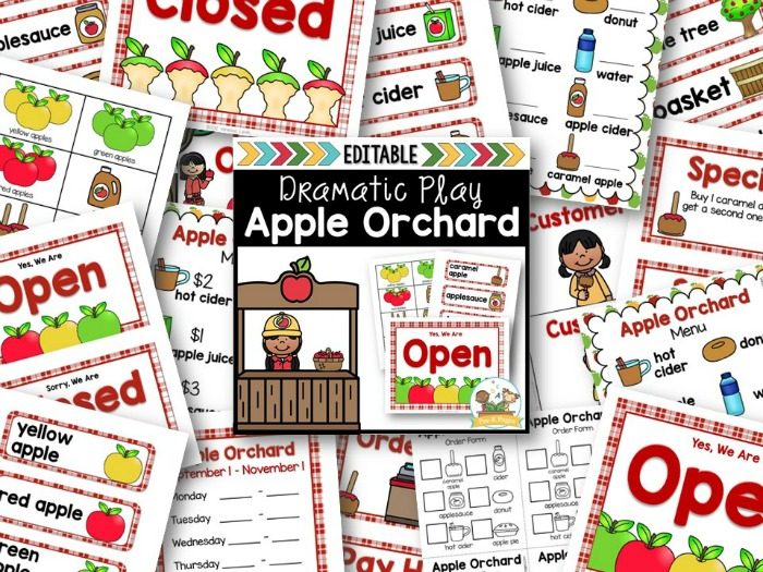 Apple Orchard Printable Props for Play