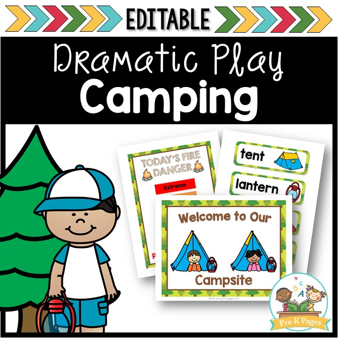 Dramatic Play Camping for Preschool