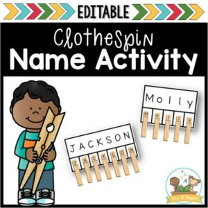 Clothespin Name Activity