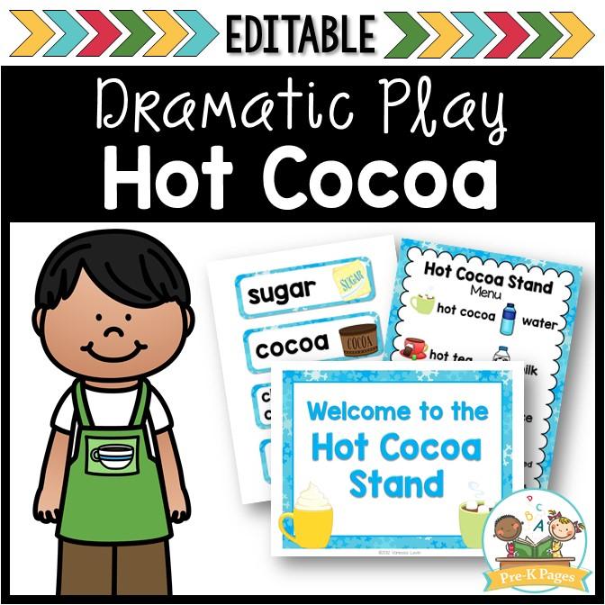 Hot Chocolate Dramatic Play Center for Preschool