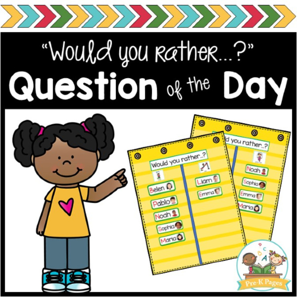 Question of the Day Activities for Preschool