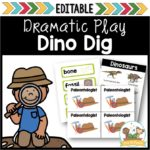 Dinosaur Dig Dramatic Play for Preschool