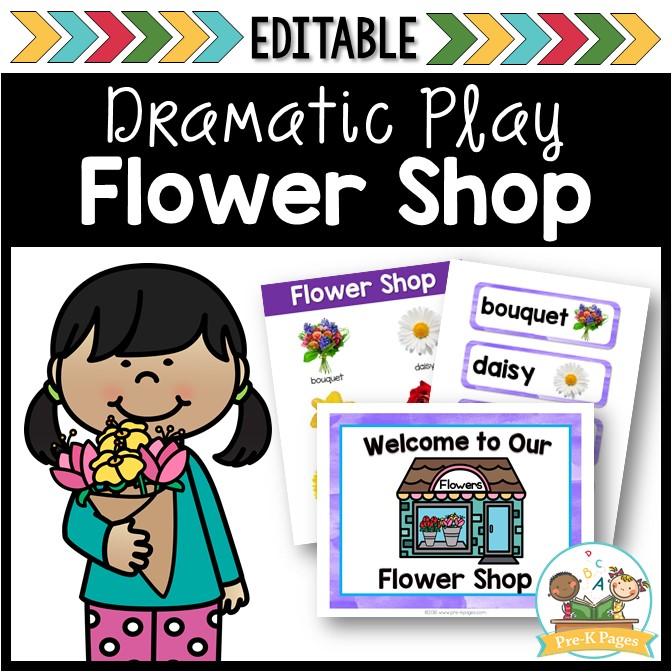 Flower Shop Dramatic Play Center for Preschool