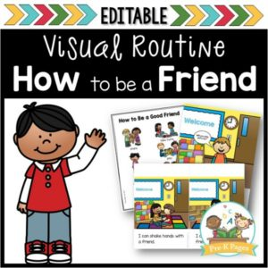How to Be a Good Friend Visual Routine