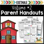 Parent Handouts Notes Letters for Preschool