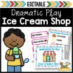 Ice Cream Dramatic Play Center for Preschool