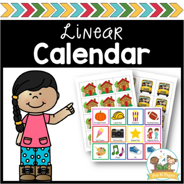Linear Calendar in Preschool