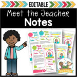 Meet the Teacher Editable Notes