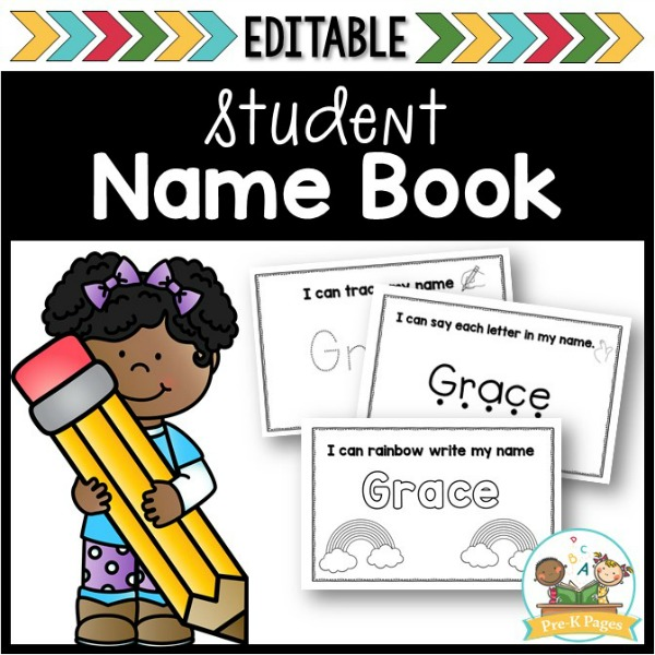 Editable Name Book for Learning Names in Preschool