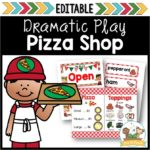 Pizza Shop Dramatic Play Center for Preschool