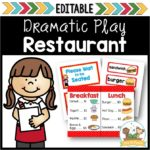 Restaurant Dramatic Play Center for Preschool
