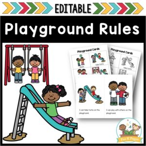 Playground and Recess Rules Editable