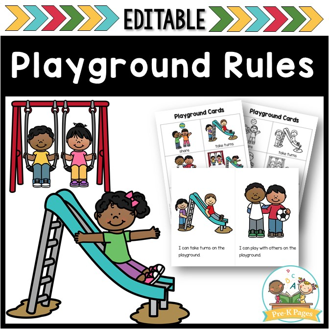 playground and recess rules editable pre k pages