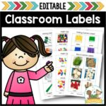 Editable Classroom Labels for Preschool