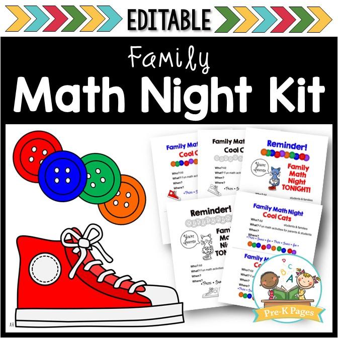 Family Math Night for Preschool