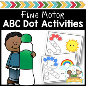 Alphabet Fine Motor Dot Pages