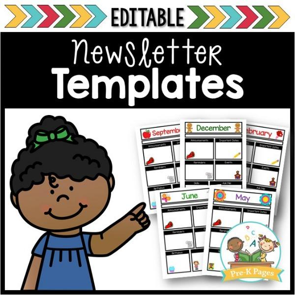 new-newsletter-cover-2018 Teaching Helper Clroom Newsletter Templates on