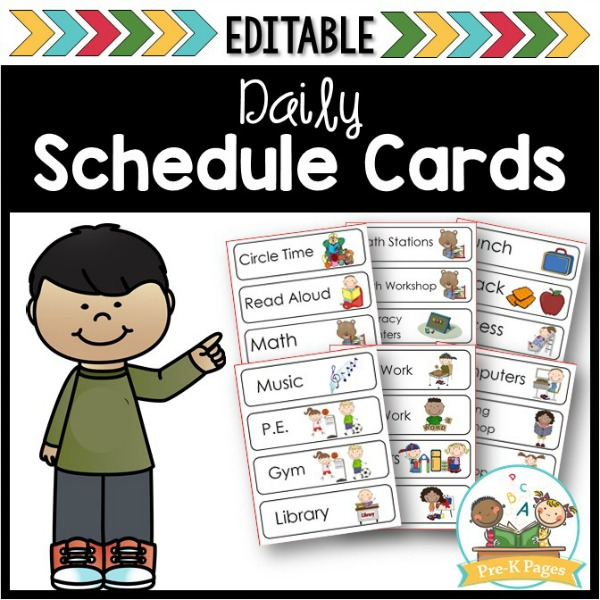 Picture Schedule Cards for Preschool