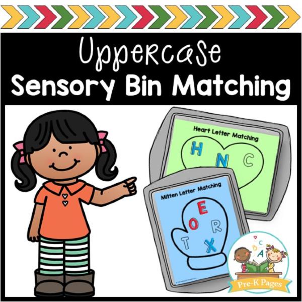 Sensory Bin Uppercase Letter Hunt