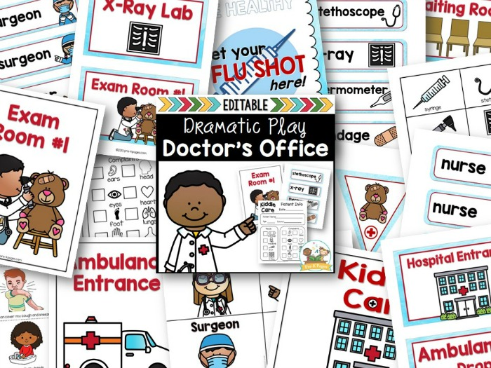 Dramatic Play Doctor Office for Preschool