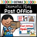 Dramatic Play Post Office Printables for Preschool