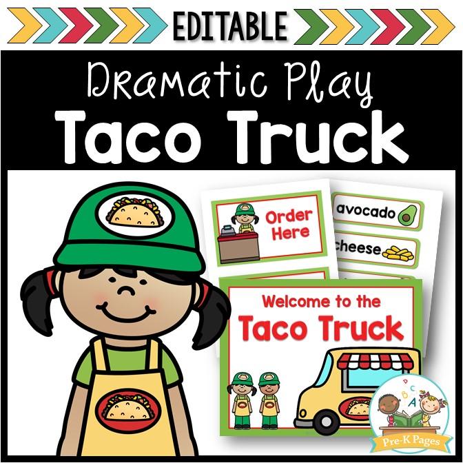 Taco Truck Dramatic Play Theme for Preschool