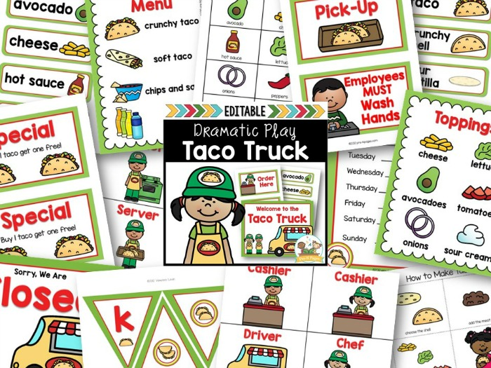 taco stand dramatic play center