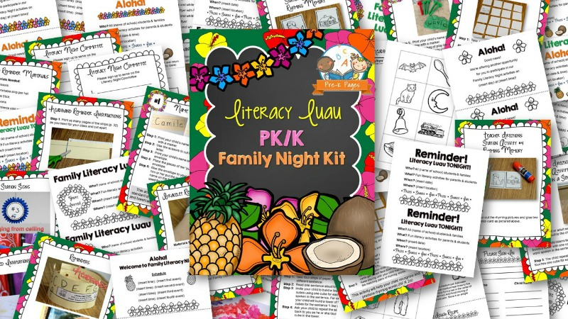 Family Night Literacy Luau Kit