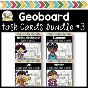 Geoboard Seasons Task Card Bundle