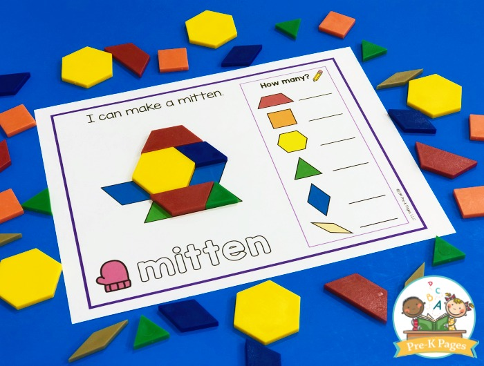 Mitten Pattern Block Mat