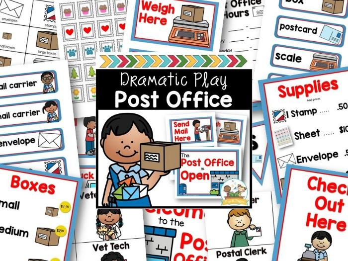 Post Office Pretend Play