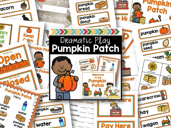 Pumpkin Patch Dramatic Play for Preschool