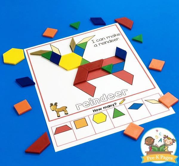 Reindeer Pattern Block Mat