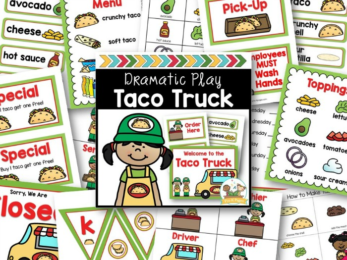 Taco Truck Dramatic Play for Preschool