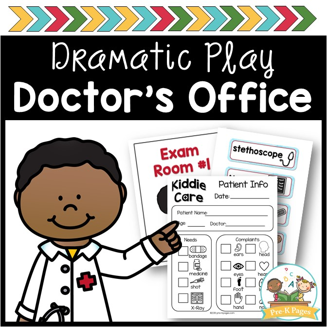 doctors office dramatic play free printables