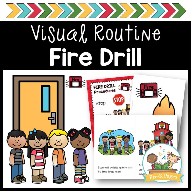 Fire Drill Visual Routine - Pre-K Pages